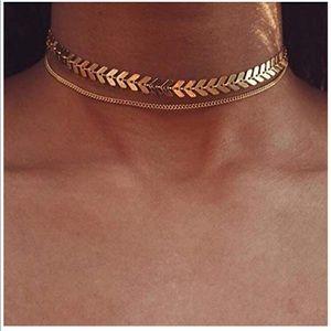 🎀Layered Choker Necklace Fishbone🎀